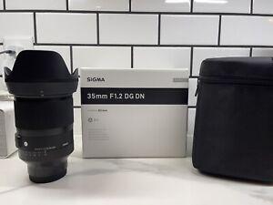 Sigma 35mm F1,2 DG DN Wide Angle Camera Lens - Sony E-mount