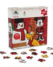 Disney Store Mickey Mouse Christmas Puzzle 2017 Deluxe Puzzle w/ Soft Touch!