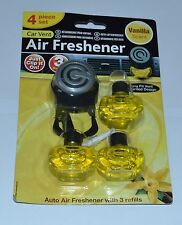 CAR VENT AUTO AIR FRESHENER WITH 3 REFILL AIR PUR COMPATIBLE VANNILA SCENT