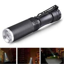 7W CREE XPE-Q5 LED Mini Linterna Súper Lámpara Negro 14500/AA Batería