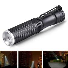 7W XPE-Q5 LED Mini Linterna Súper Lámpara Negro 14500/AA Batería