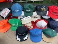 Vintage Trucker Hat Lot Patch Snapback Cap Mesh Tractor USA Farm Car Racing VTG