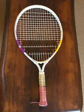 Babolat  Jr Tennis Racket White Yellow  And Purple