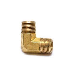 "Elbow 3/8"" Male NPT (M) MPT Brass Fitting Fuel, Air, Water, Oil, Gas Pipe"