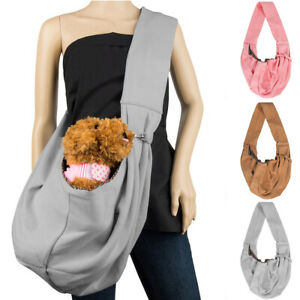 Small Pet Dog Cat Puppy Sling Carrier Travel Tote Pouch Hands Free Shoulder Bag