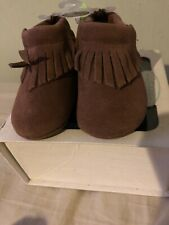 Baby Deer Brown Suede Infant Mocassin booties Unisex Size 3