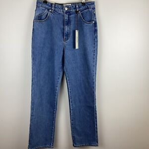 Rolla's Australia Womens Blue High Rise Straight Jeans Size 11 S3