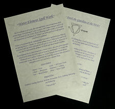 Witches WATER Elemental Information Posters Wicca Pagan Ritual Spells Altar