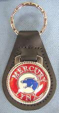 Mercury LYNX Black Leather Keyring Blue Cat 1981 1982 1983 1984 1985 1986 1987