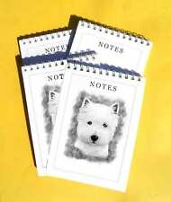 West Highland White Terrier Dog Pack of 4, A6 Dog Note pads Gift Set