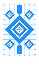Blue Diamond Sighting-In Pistol & Rifle Paper Shooting Targets -8x14 -135 Qty.