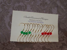 CHRISTMAS HOLIDAY ORNAMENT HANGERS/HOOKS...12  TRADITIONAL BEAD COMBO (M1)