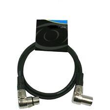 XLR 3-pol. Kabel mit Winkel Stecker 90° 1,50m Länge, auch für DMX , abgewinkelt