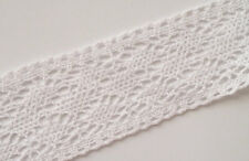 5 Yrds Vintage Style Cotton Crochet Lace Edge Trim Craft White 3W Edging Sewing