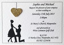 50 X Personalised Wedding Invitations Day or Evening With Envelopes