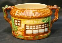 Vintage Beswick Ware Pottery Round Cottage Twin Handled Sugar Bowl No.245