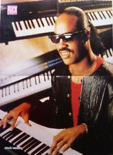 STEVIE WONDER: 4 pages 1989 double sided FRENCH POSTER (FREE SHIPPING)