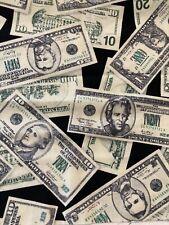 NEW Currency MONEY Dollar Bills 100% Cotton Fabric by the Half Yard