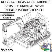 Kubota Excavator KX080-3 Service Manual WSM Repair Workshop PDF CD **Nice**