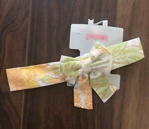 NEW Gymboree WILDFLOWER FIELDS Headband Fruffle Girl Floral Flower Orange Green