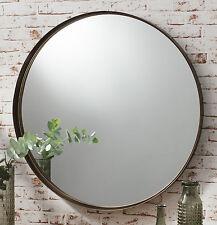 "Greystoke Large Bronze Round Wall Mirror - 33"" Diameter"