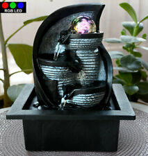 Design LED Tisch Zimmer Brunnen Wasser Spiel RGB Farbwechsel Dekoration Kugel