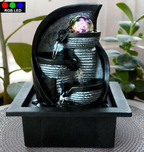 LED Zimmer Brunnen Tisch Wasser Kugel Spiel RGB Farbwechsel Leuchte Dekoration