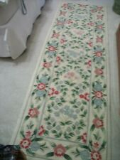 COTTON HOOKED FLORAL RUNNER RUG  93 X 30""