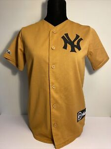 Vintage 90s New York Yankees Youth Large Majestic Brown Jersey