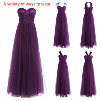 Women Mesh Long Evening Formal Party Ball Gown Prom Bridesmaid Dress Maxi Dress