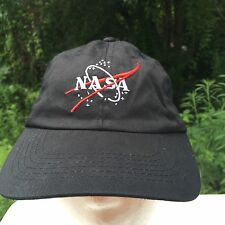 Youth Sz 56cm NASA Velcro Adjustable Hat Cap Embroidered Black Trucker