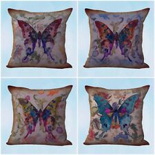US Seller- 4pcs throw pillow cases cushion covers vintage butterfly