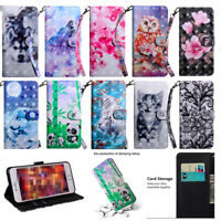 For Samsung Galaxy J4 J6 Plus A6 A7 A9 2018 Flip Leather Wallet Case Stand Cover