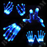 ICE BLUE XO Magic Mitts Light Show RAVE Party Flashing GLOVES - Party Fun!