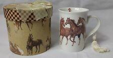Horse 9 oz Mug Coffee / Tea Cup with Tassel and Decorative Gift Box