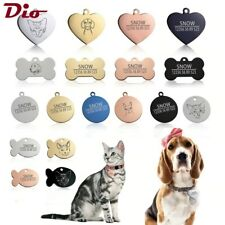 Dog Tag personalized DogCat ID engraving Collar Charm Pet name pendant Necklace