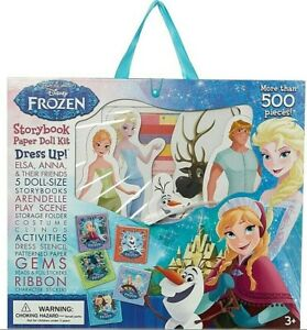 Disney Frozen Storybook Paper Doll Kit Elsa & Anna 500 Pieces Craft Set New Toy