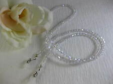 "CRYSTAL CLEAR 27"" Swarovski Bi-Cone Shaped Crystal Beaded Eyeglass Chain~Holder"