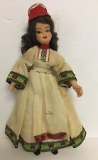 Vintage Rubber Ethnic Doll Woman In Costume 7 1/2""