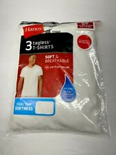 Hanes Men's T-shirts Tagless Crew Neck Slightly Imperfect White 3 Pack Shirts