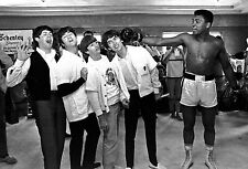 The Beatles and Muhammed Ali Boxing Music Glossy Photo Promo Print A4