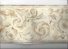 WALLPAPER BORDER ARCHITECTURAL SCROLLS NEW ARRIVAL VICTORIAN MOULDING CLASSIC