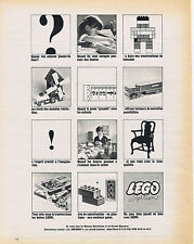 PUBLICITE ADVERTISING 094 1964  LEGO system jeux de construction
