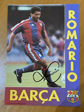 Romario Signed Postal Fc Barcelona Vintage Autógrafo Autograph Barça Football
