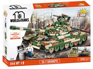 COBI IS-7 Granite Tank SET# 3040 (844 Pcs.) US SELLER, WOT, Russia, WWII