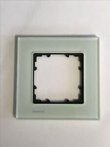 Siemens 5TG1201 DELTA miro Rahmen 1-fach Echtmaterial Glas kristallgrün