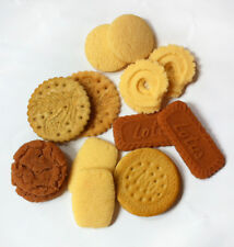 10pcs Fake Danish  Cookies Faux Chocolate Cream Sandwich Cookie Fake Food decor