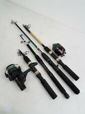 Lot of 4 Fishing Rods w/ Coleman & Master Graphite C
