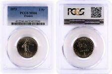 Pièces de monnaie françaises de 1 franc 1 francs nickel