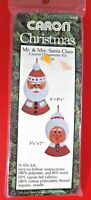 Mr & Mrs Santa Claus felt ornaments embroidery kit vintage 1978 new Christmas